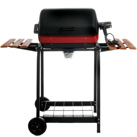 backyard grill 5a meco electric grill on cart with fold down side tables
