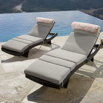 costco chaise lounge cushions portofino lounger cushion 2 pack loungers not included