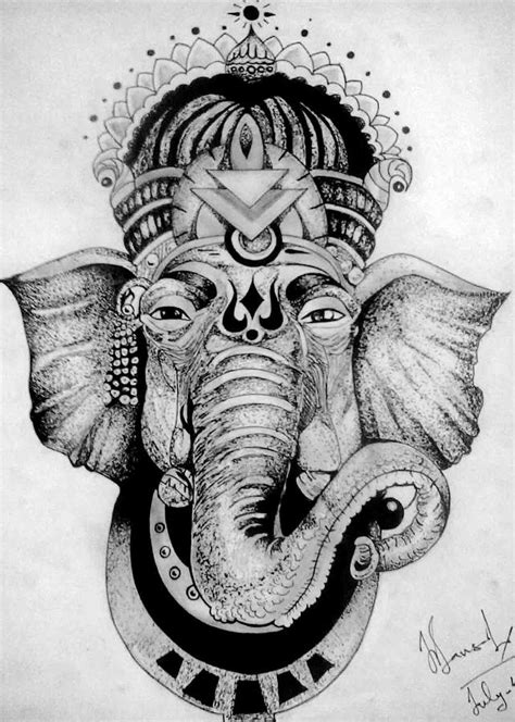 the lord ganesha drawing by nilesh bansal