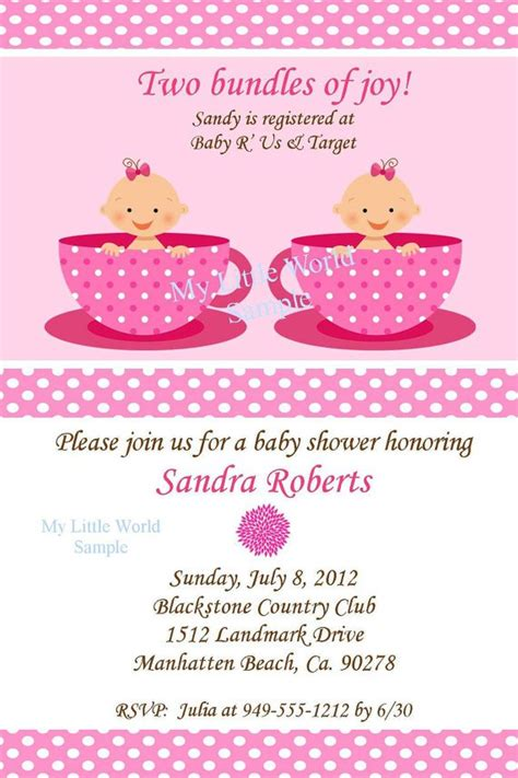 twins baby shower invitations wording party xyz
