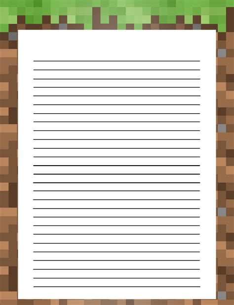 printable minecraft stationary get your own free minecraft style stationery at the link