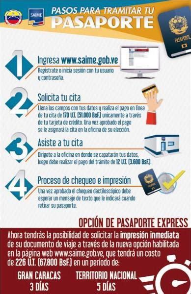 precio para sacra el pasaporte en venezuela saime confirm 243 ajuste de tarifas para la obtenci 243 n de