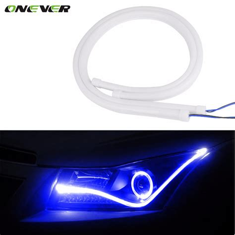 Onever 2pcs 60cm 12v Turn Signal Light Flexible Silicon Auto Led Lights