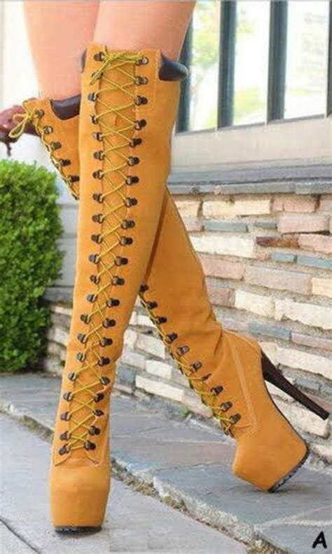 timberland heels thigh high boots shoes and more shoes