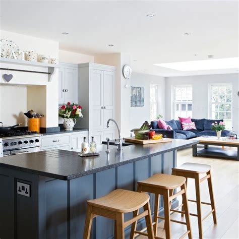 open plan kitchen design ideas painted open plan kitchen traditional kitchen diner ideas housetohome co uk