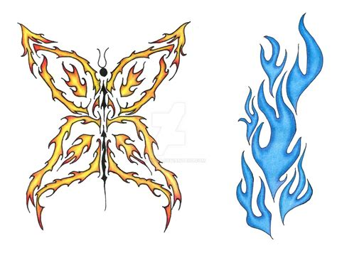 flame of recca tattoo designs stylish on arm sleeve