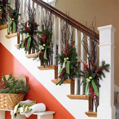 decorating a banister how to decorate the interior of a house for christmas 5