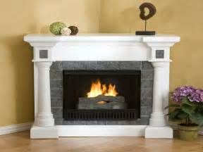 Corner Fireplace With Mantel by Electric Fireplace Mantel Corner Med Home Design Posters
