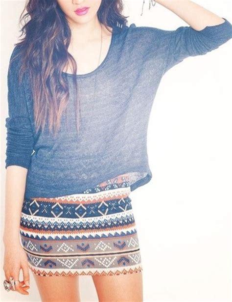 tribal patterned mini skirt t shirt skirt patterned skirt skin tight tribal