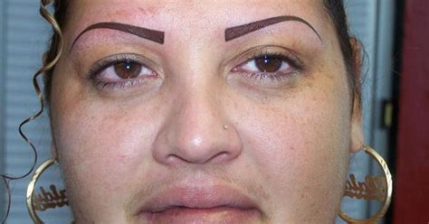 tattooed eyebrows gone wrong tattooed makeup wrong