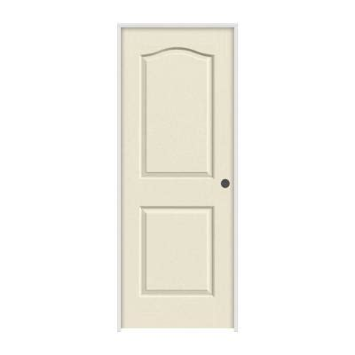 home depot interior doors prehung jeld wen 30 in x 80 in molded smooth 2 panel eyebrow primed white hollow composite single