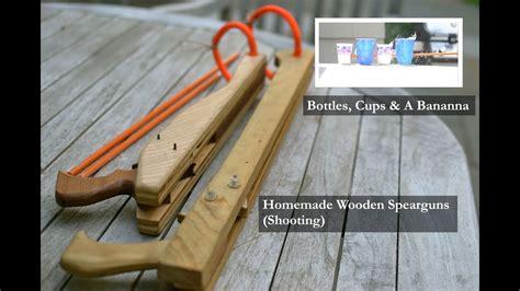 homemade wooden spearguns shooting youtube