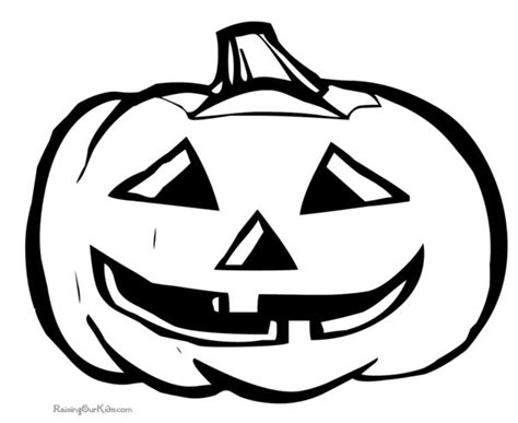 cool pumpkin coloring pages scary halloween drawings for kids