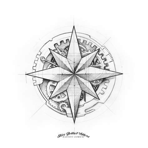 compass rose tattoo design compass tattoos