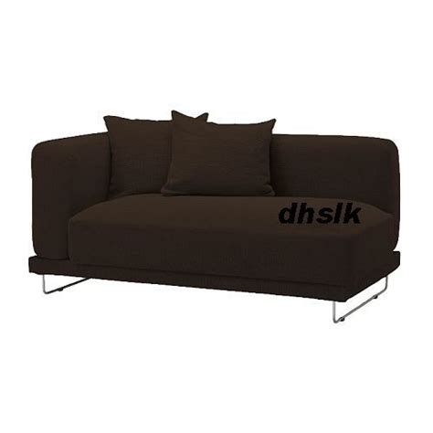 one arm sofa slipcover ikea tylosand 2 seat 1 arm sofa cover rephult dark brown