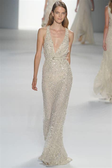 V Neck Elie Saab Beaded Wedding Dress