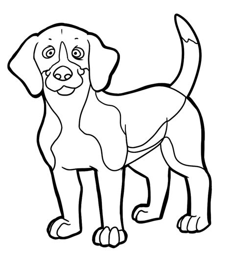 beagle dog coloring page beagle coloring pages to download and print for free