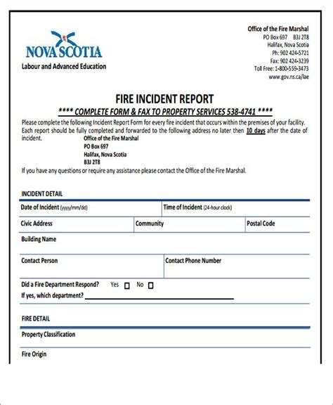 46 incident report formats 46 incident report formats