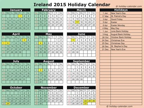 Printable Calendar 2014 Ireland | printable 2016 calender with bank holidays ireland