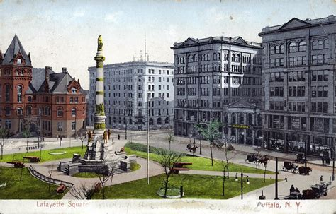 Lafayette Square | lafayette square buffalo n y postcard the american civil war 150
