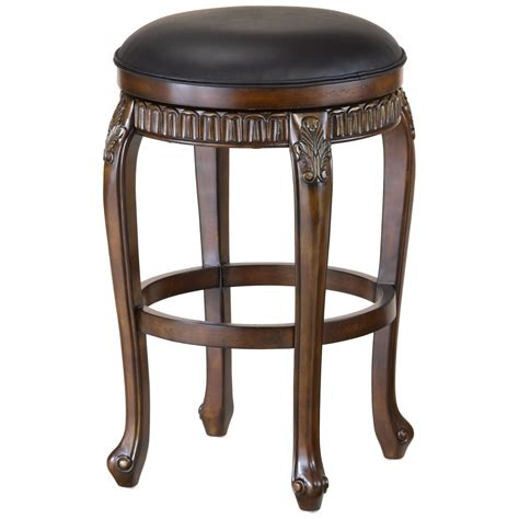 24 inch backless bar stools hillsdale fleur de lis 24 in backless swivel counter
