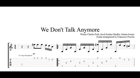 we can t be beaten guitar tab by rose tattoo guitar tab fingerstyle guitar tab charlie puth we don t talk