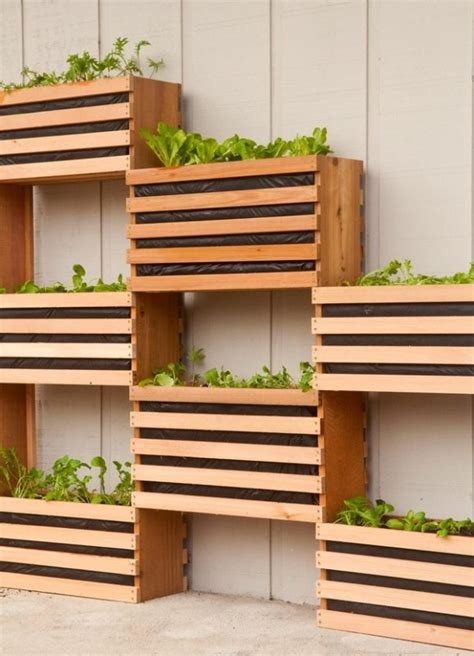diy vertical herb barely planters contemporary herb