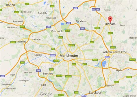 map uk oldham where is oldham on map greater manchester world easy guides