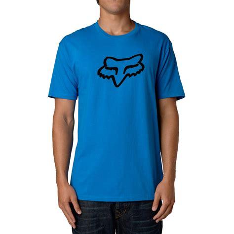 fox motocross shirt fox racing legacy fox ss t shirt mens blue
