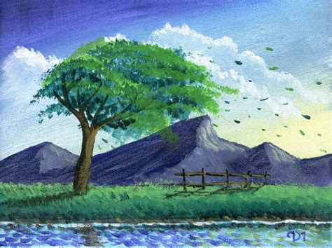 imagenes de paisajes dibujados imagenes de paisajes pintados con tempera imagui