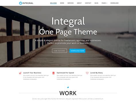 wordpress themes free for commercial use integral free premium one page business wordpress theme