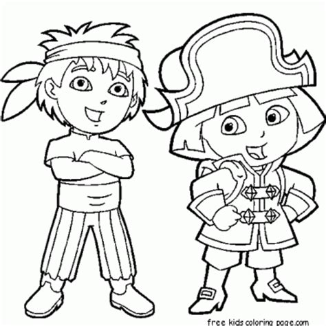 free coloring pages dora and diego dora the explorer diego coloring pages coloring pagesfree