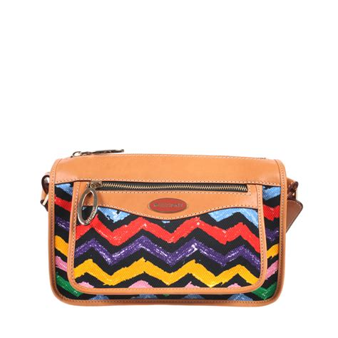 zig zag bag pattern missoni black zig zag pattern cross body bag in cotton