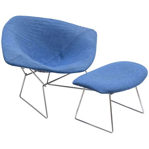 bertoia ottoman jumbo quot diamond quot chair and ottoman by harry bertoia at 1stdibs