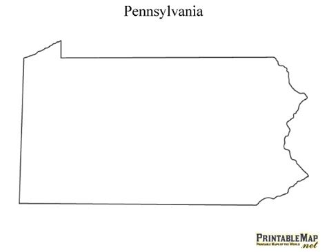 outline capital a best photos of pennsylvania map outline pennsylvania