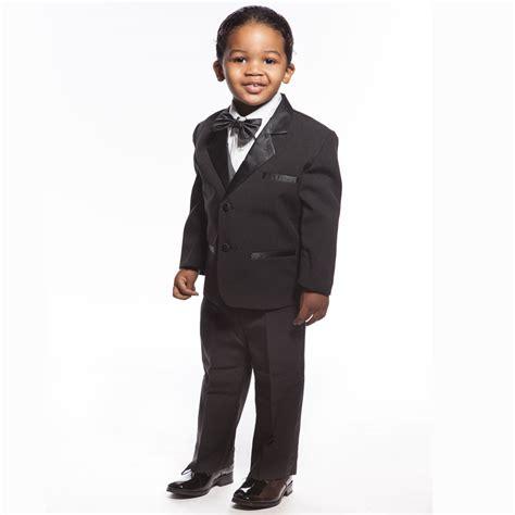 Infant And Child Suits baby tuxedo black 5 set for infant ring bearer