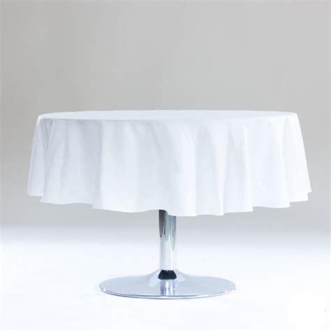 nappes ronde blanche table de cuisine