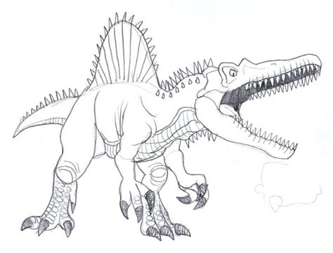 t rex vs spinosaurus coloring page coloring pages