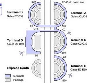dallas airport terminal map