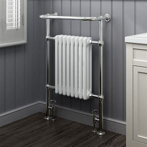 traditional bathroom radiator heated traditional radiator cast iron chrome towel rail
