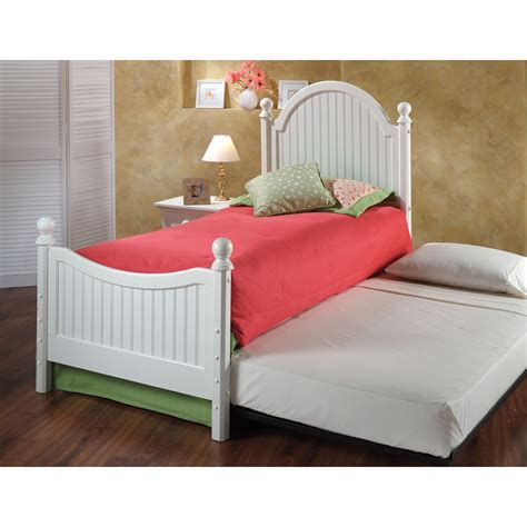 Westfield Wood Trundle Bed In Off White Humble Abode Trundle Bed