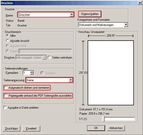 Etiketten Drucken Adobe Reader by Etiketten Drucken Druckereinstellungen Versandtarif De