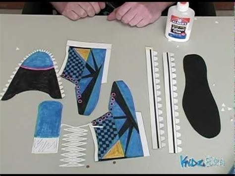 How To Make A Shoe With Paper - how to make a paper shoe
