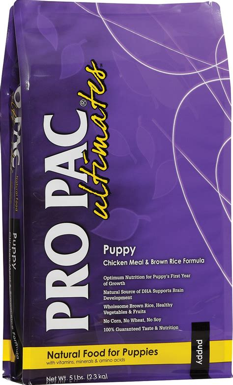 propac puppy food pro pac ultimates chicken meal brown rice puppy food 28 lb bag chewy