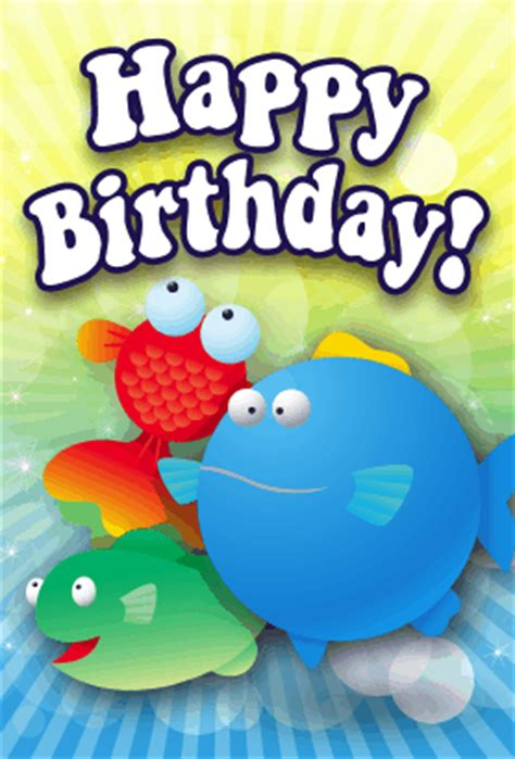 printable birthday cards fishing fish birthday card