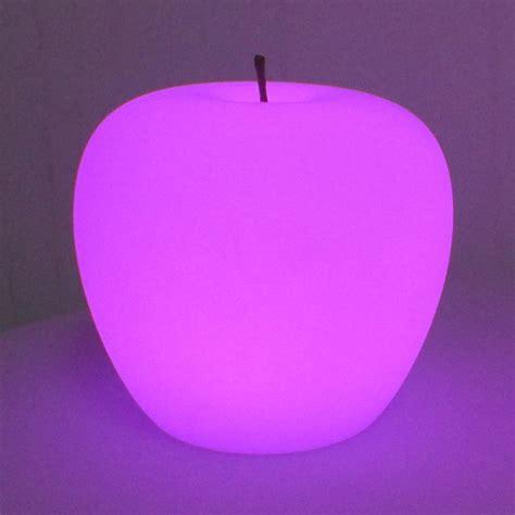 rechargeable apple led garden mood light