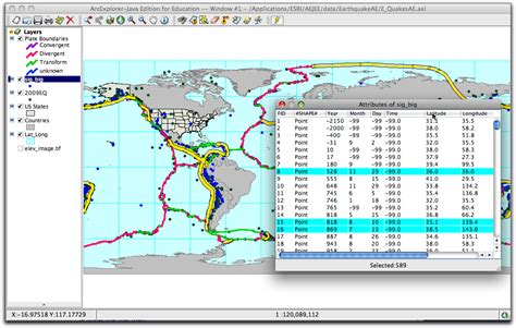 table attributes in html using aejee to analyze earthquake patterns