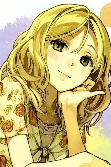 anime girl with blonde hair image 1041900 by awesomeguy on favim com