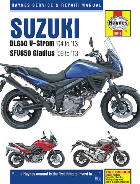 Suzuki Dl650 V Strom Repair Manual 2005 2013 Sfv650 Gladius