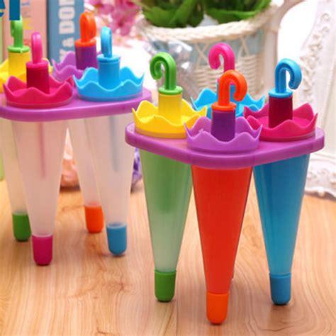 Termurah Cetakan Es Lolly Pop Lolly Pop Home Made kedatangan baru 4 beku es krim cetakan es loli yogurt lolly pop pembuat cetakan tray dapur diy